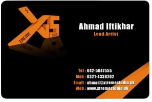 My Official Card Front by ahmadiftikhar