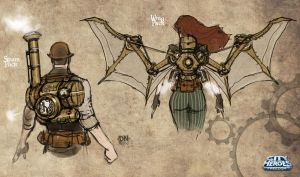 Steampunk Sketches B by DNA-1