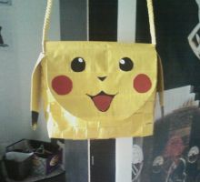 Duct Tape Pikachu Purse by UnderCoverCottonswab