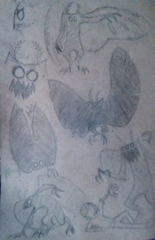 angry little mothman by G-R-O-X