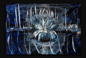 Spray painting Abstract - Ice city by Airgone