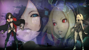 Kat vs Raven (Gravity Rush) by GYNGA