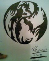 Dragon  yin and yang by gamerextremer