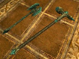 Glass mace and hammer (other angle) by isaac77598