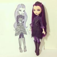 Raven Queen: Casual look. by chrmeur