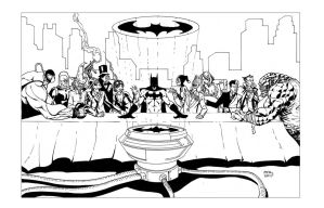 Batman Villains Last Supper PH by thecreatorhd