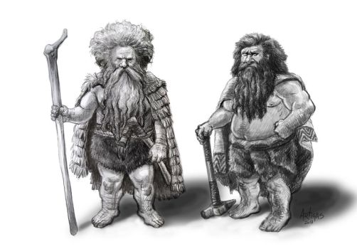 Primitive Dwarfs by Artigas