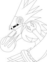 Beastman exe: LineArt by Michael2007V2
