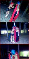 Kamina and Yoko - X 10 by Thara-Wood