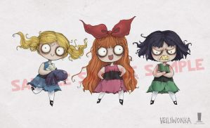 Powerpuff Girls burtonized by weiliwonka