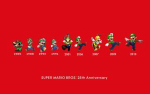 Mario Bros 25th History Luigi by AstroBoy122