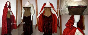 Red Riding Hood OUAT Full Ensemble and Cloak by enchantedsea
