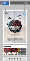 Flyer - Poster: Dubstep Sounds by blercstudio