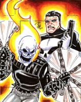 Punisher Ghost Rider by mainasha