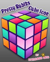 Pretty Rubik's Cube Icon by princessang2644
