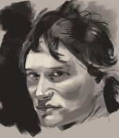 Super-quick face study by Rhineville