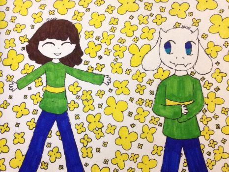 Chara and Asriel by Thundercat4