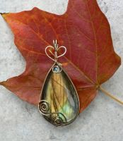 Autumn Breeze Labradorite Wrap by magpie-poet