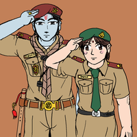 Hare Krishna Scout and Radha Girl guide by VachalenXEON