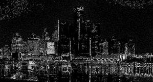 skyline in black by bornagainrider