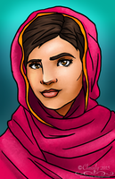 Malala Yousafzai by Chrisily