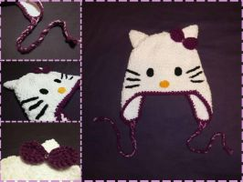 Hello Kitty Earflap Hat by argentinian-queen