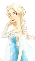 Queen Elsa by h-Robun