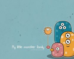 My Little Monster Family by pincel3d