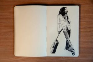 Bob Marley Drawing by Rollingboxes