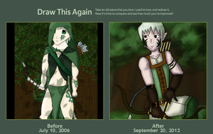 Draw this Again: Forest Archer by fl00fy