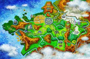 Pokemon X and Y Kalos Region Map by GT4tube