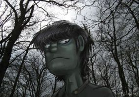 Murdoc with trees by Nietje