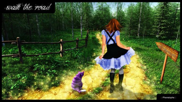 Alice - walk the road by Phenelophe