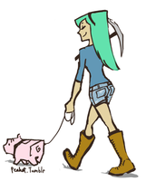 pigwalking by peahat