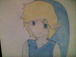 Blue Link Sketch by polkadots12345