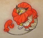 Lucky Cat Pen Doodle by MowenDesigns