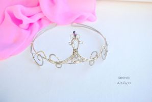Silver coloured wire wrapped tiara by IanirasArtifacts