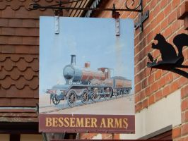 Bessemer Arms Pub Sign by rlkitterman