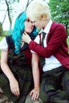 Haruka and Michiru - Sailor Moon by Mostflogged