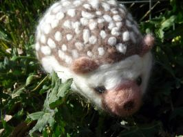 Needle Felted Hedgehog -Prickles by Throughawolfseyes