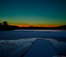 lake in winter by rockmylife