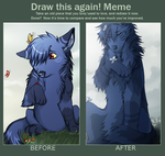 Before after meme by Ronkeyroo