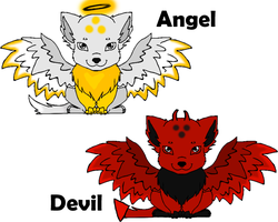 Angel Devil Adoptables -SOLD- by jesspotter