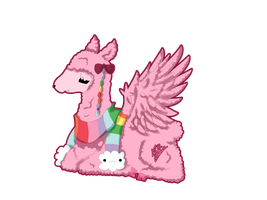 Pink llama by MelodieTheCat