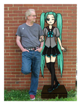 Mr. Randy and Hatsune Miku by saveme98