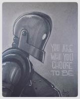 You Are Who You Choose to Be - The Iron Giant by patrickianmoss