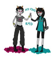 homestuck: r4d h1gh-f1v3 by the-ghostfactory