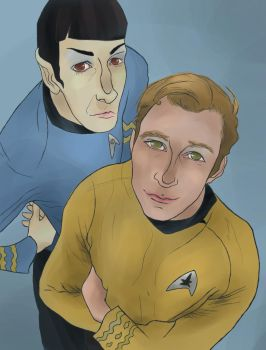 Spock and Kirk by SmudgeThistle