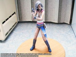 Final Fantasy X-2 Yuna papercraft model by ninjatoespapercraft