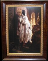 Framed Piece - Moorish Chief by StephenBergstrom